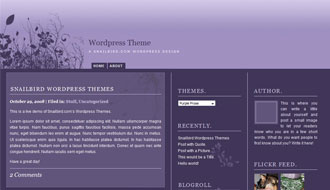 Purple Rose WordPress Theme