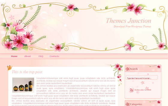 Girly Diaries WordPress Theme