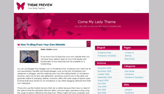 Pink Butterfly WordPress Theme
