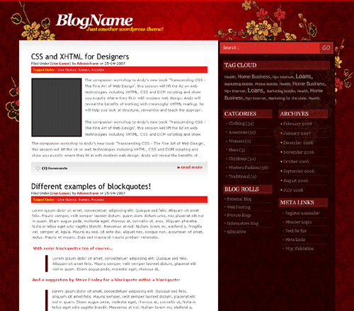 Club Red WordPress Theme