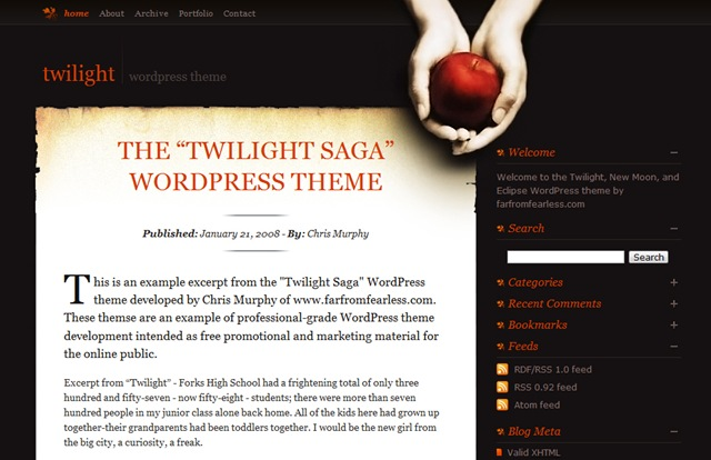 Twilight WordPress Theme