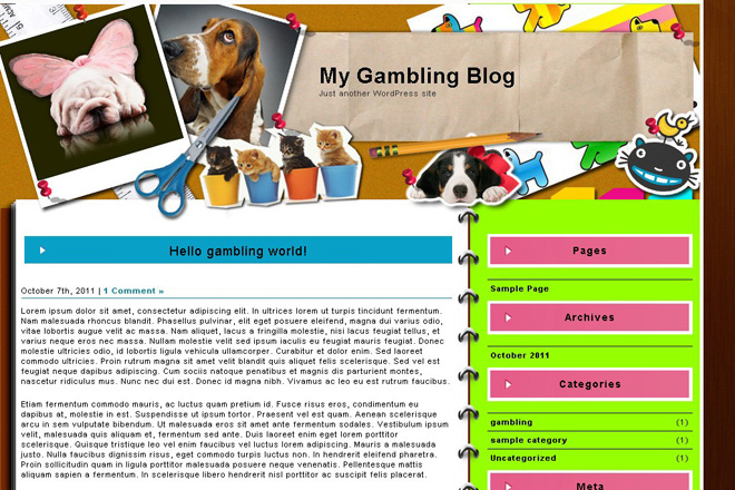 Doggy Scrappy WordPress Theme