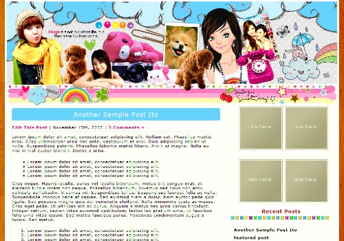 Dog's Life Kawaii WordPress Theme