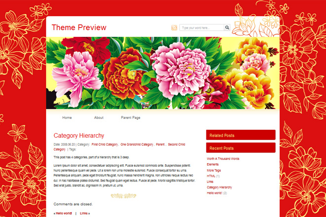 Asian Oriental WordPress Themes