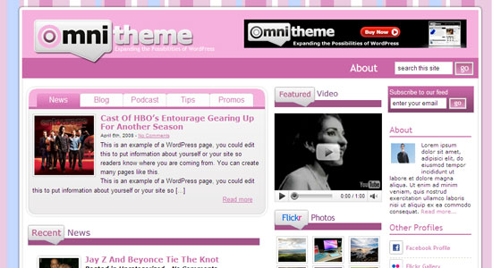 Omni Pink WordPress Theme