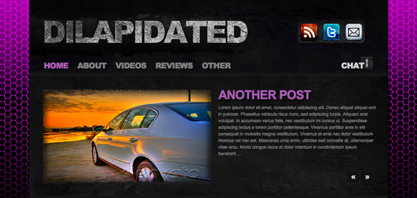 Dilapidated WordPress Theme
