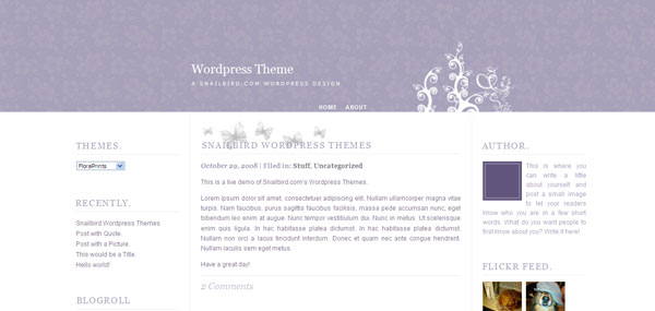 Floral Prints WordPress Theme