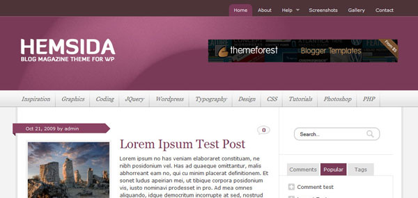 Hemsida WordPress Theme