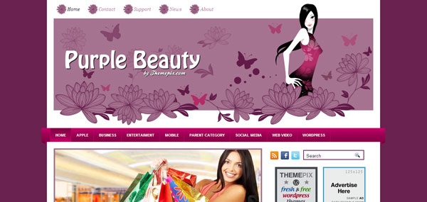 Purple Beauty WordPress Theme