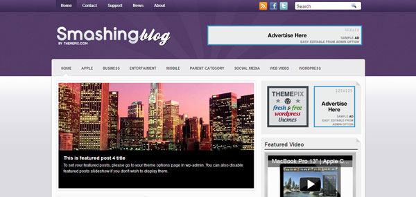 Smashing Blog WordPress Theme