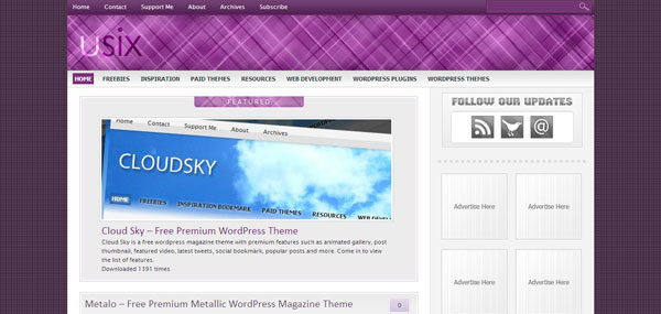 Usix WordPress Theme