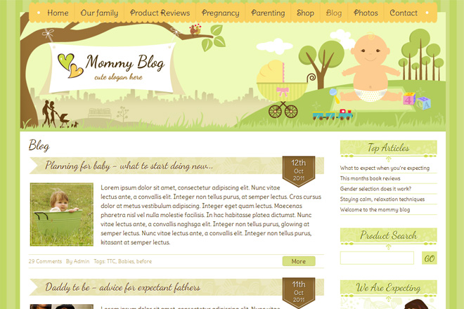 Mommy Blog WordPress Theme