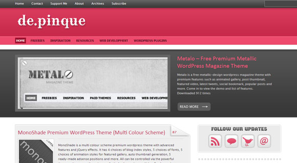 de.pinque WordPress Theme