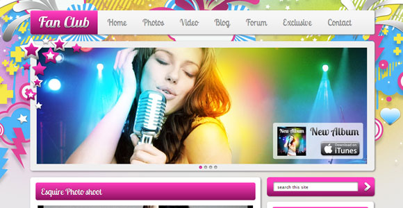Fan Club WordPress Theme