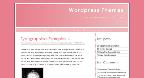 Gemini Pink WordPress Theme