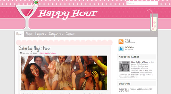 Happy Hour WordPress Theme