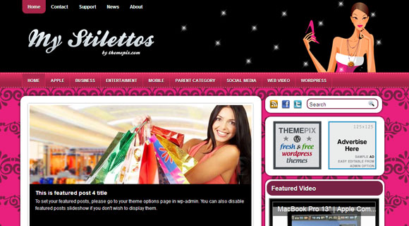My Stilettos WordPress Theme