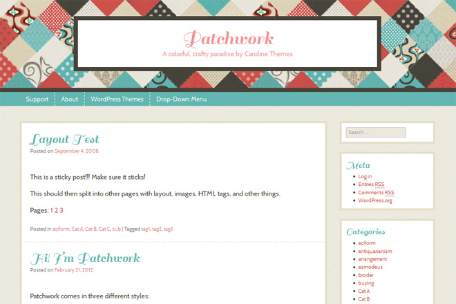 Patchwork WordPress Theme