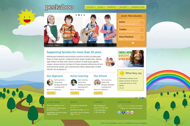Pekaboo Children's WordPress Theme