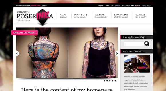 Poser Ink WordPress Theme