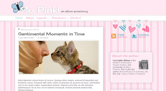 So Pink WordPress Theme