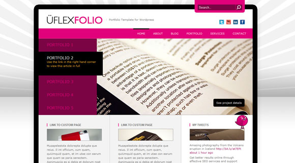 uFlexFolio WordPress Theme