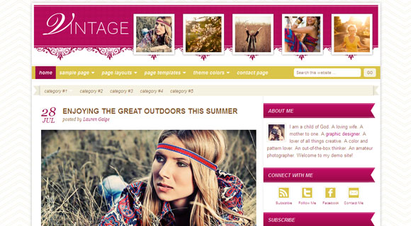 Vintage WordPress Theme