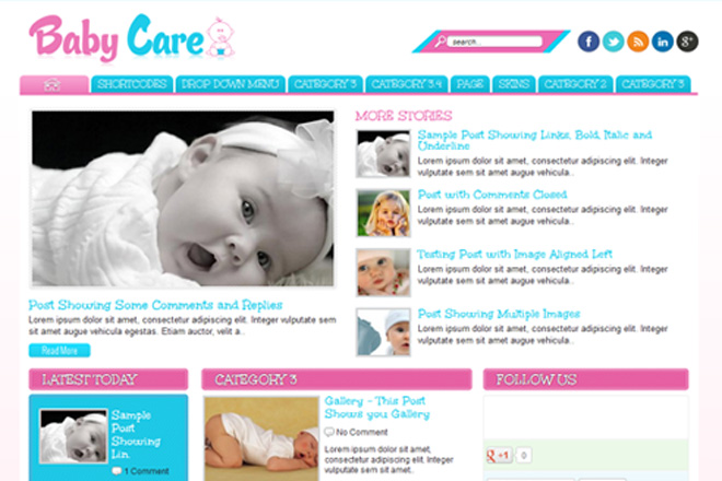 Baby Care WordPress Theme