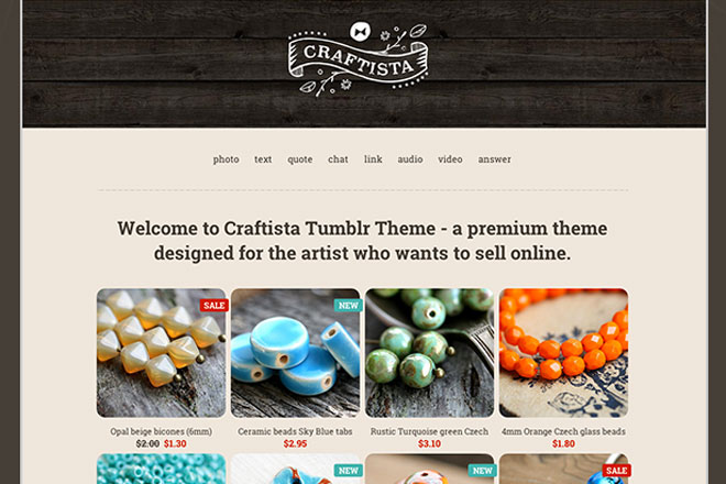 Craftista eCommerce Tumblr Theme