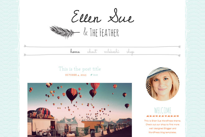 Ellen Sue WordPress Theme