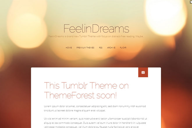 FeelinDreams Tumblr Theme