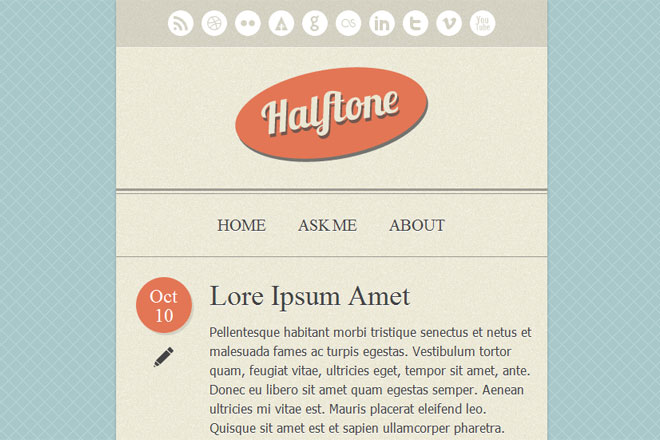 Halftone Tumblr Theme