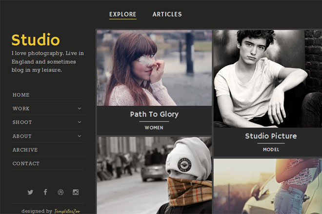 Studio Blogger Template