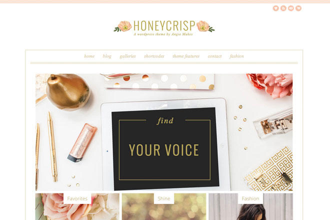 Honeycrisp – A Pretty WordPress Theme