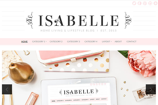 Isabelle WordPress Theme