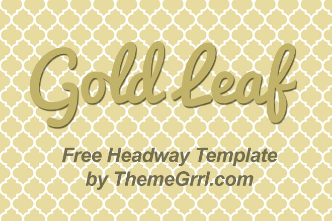 Gold Leaf – Free Headway Theme Template